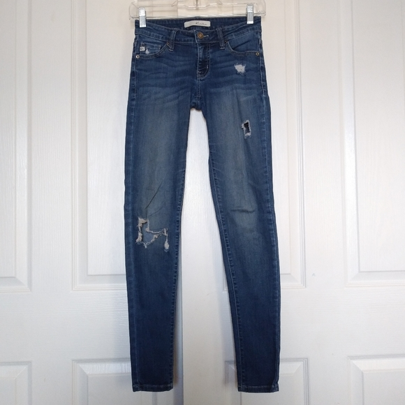 KanCan Denim - Womens Kancan Distressed Skinny Jean size 24